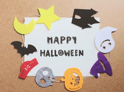 Happy halloween written on paper