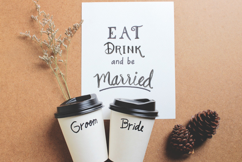 Married quote on paper with coff