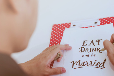writing eat drink and be married