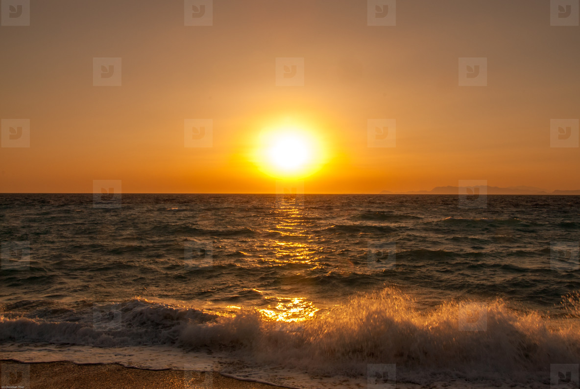 Sunset at the ocean