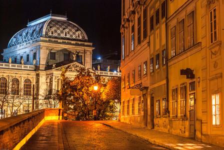 Vienna university at night