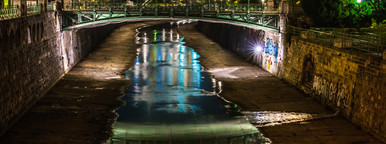 Vienna cita at night