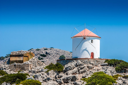Traditional greek windmill