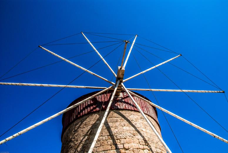 Traditional greek windmill