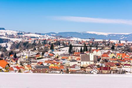 Winter snow village