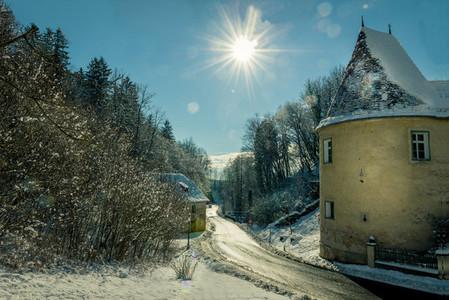 Winter castle   snow