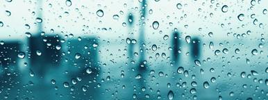 Drops of rain on glass window