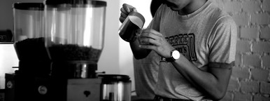 Making cup of coffee