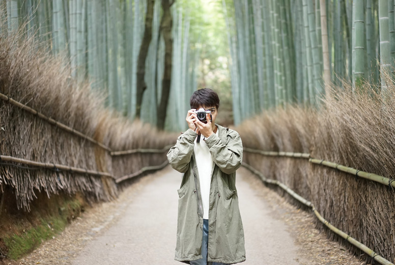 In the bamboo forest  Arashiyama