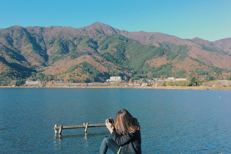 A sunny day in autumn  Japan