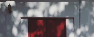 Red wood window