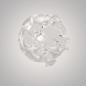 abstract glas sphere