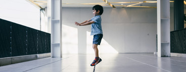Young Boy Levitating