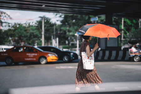 Woman  Umbrella