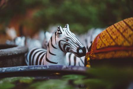 Zebra Statue Closeup