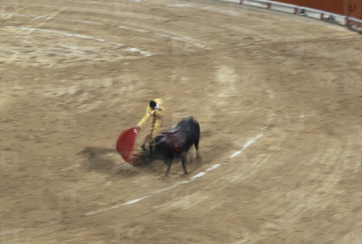 Bullfights and a Fire  01