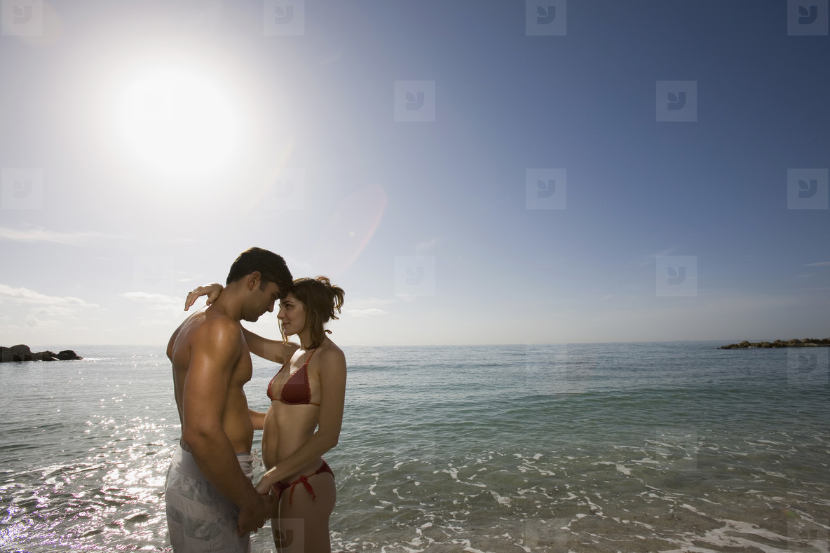 Hot Couple on the Beach  01