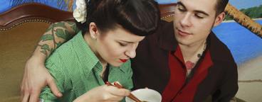Retro Sushi Couple  09