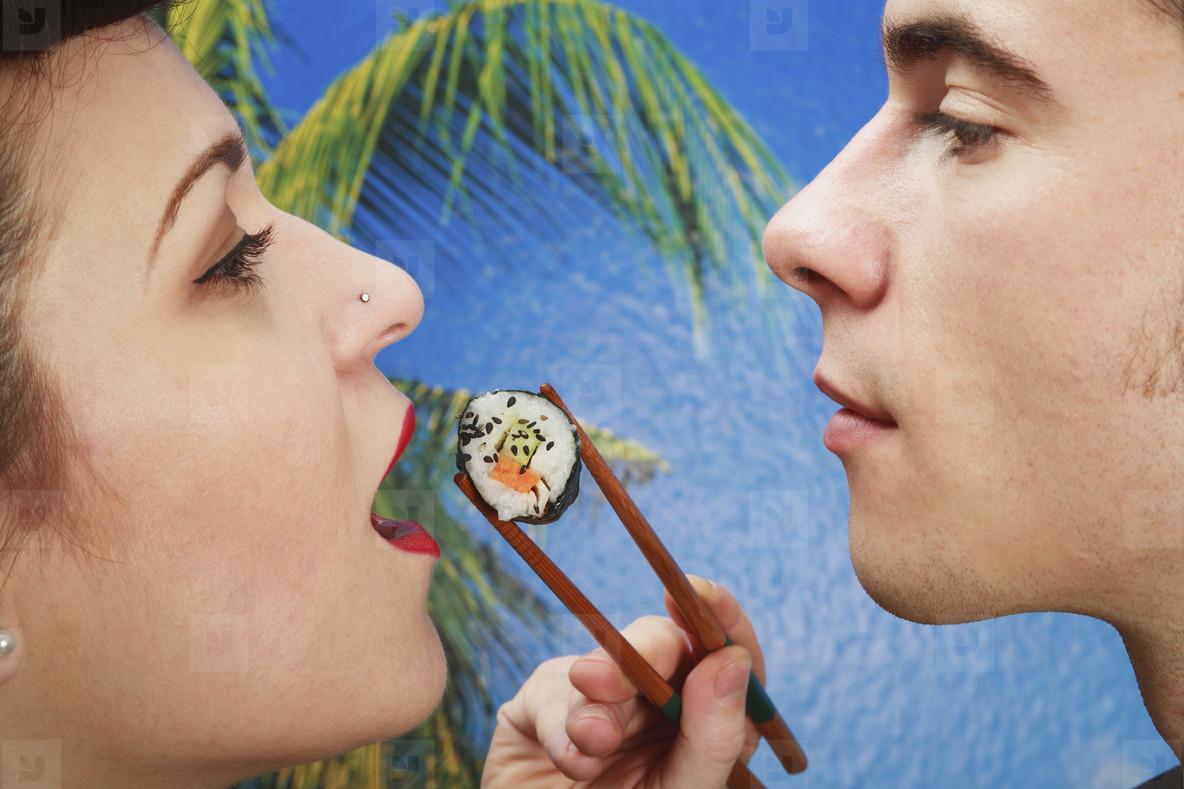Retro Sushi Couple  11