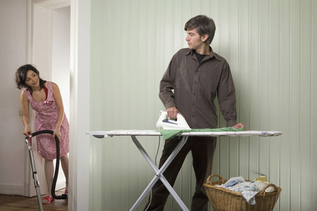 Couple Doing Chores at Home 27