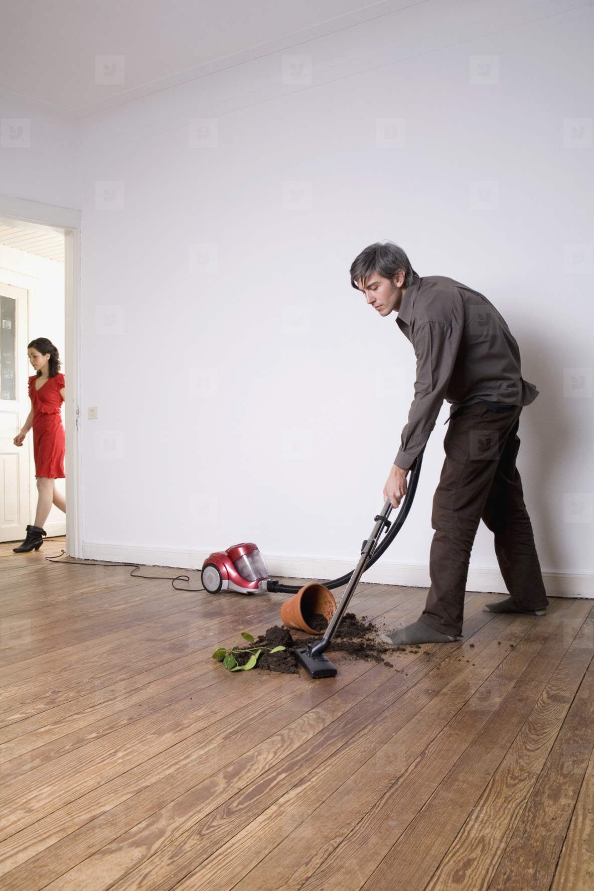 Couple Doing Chores at Home  57