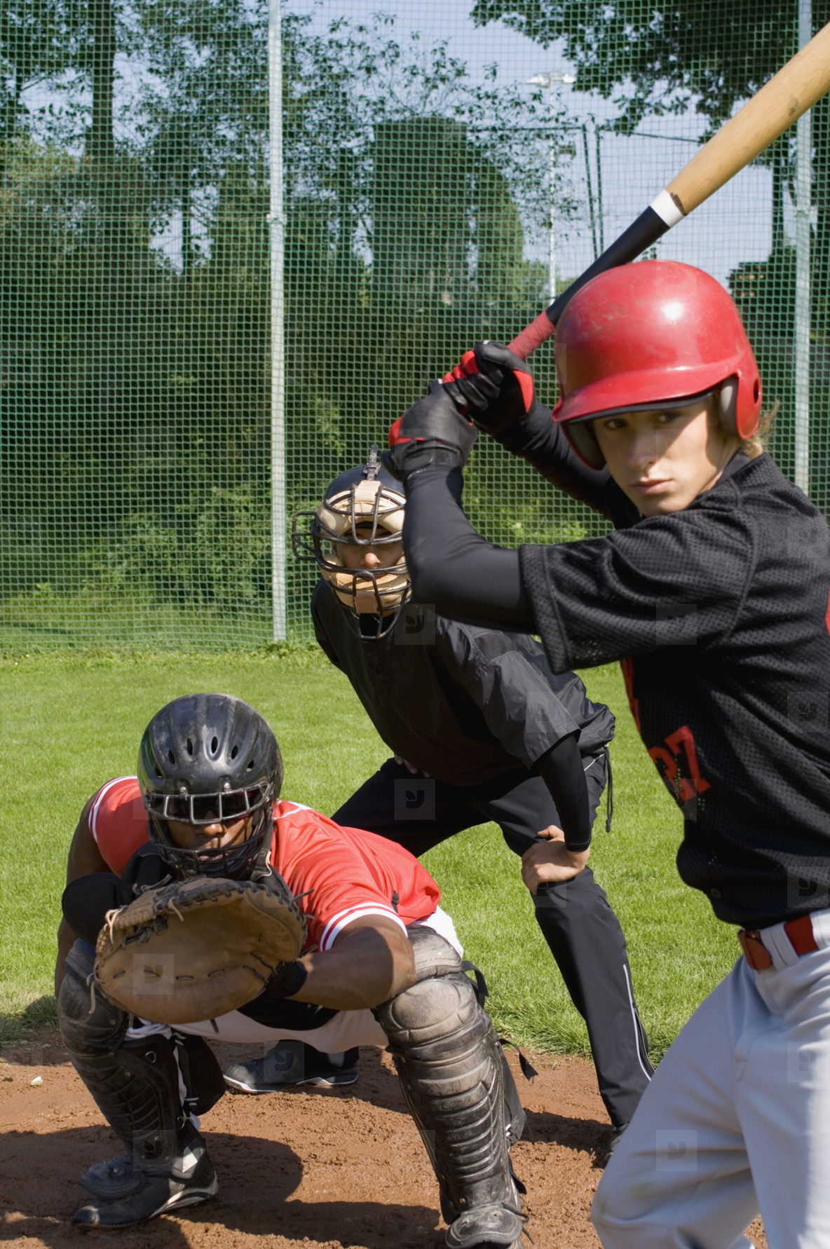 Baseball Team Action  07