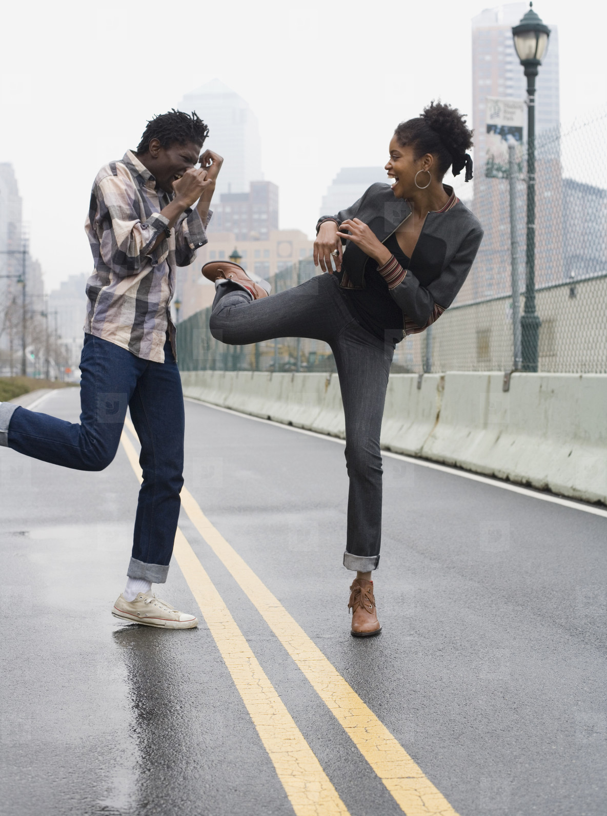 Urban Black Couple  08