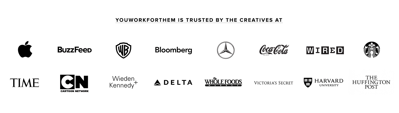YouWorkThem is trusted buy creatives at
