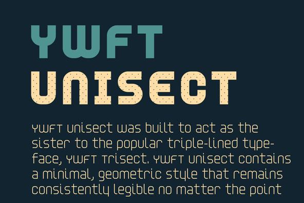 ywft unisect font
