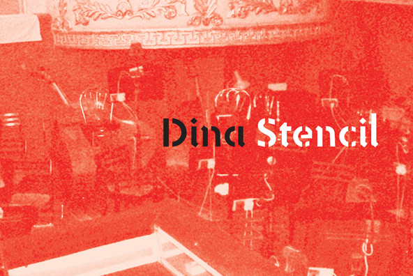 Dina Stencil