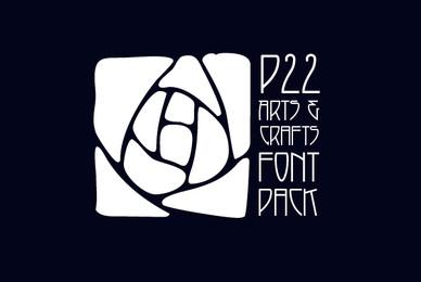 P22 Arts   Crafts Font Pack