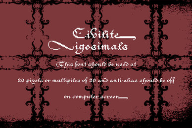 Civilite Vigesimals