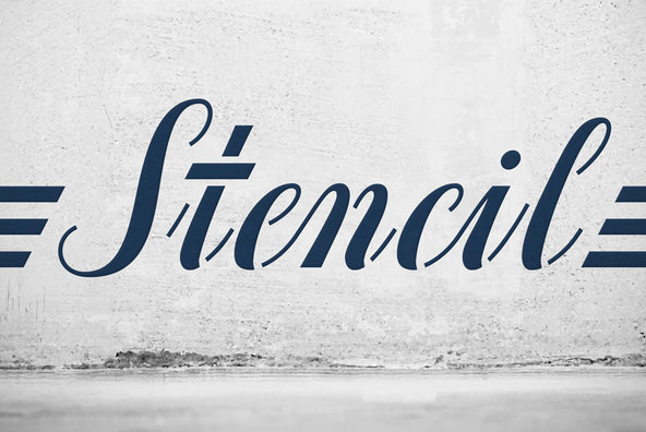 Stencil fonts prevnext identifont stencil gothic harry for Template gothic font free