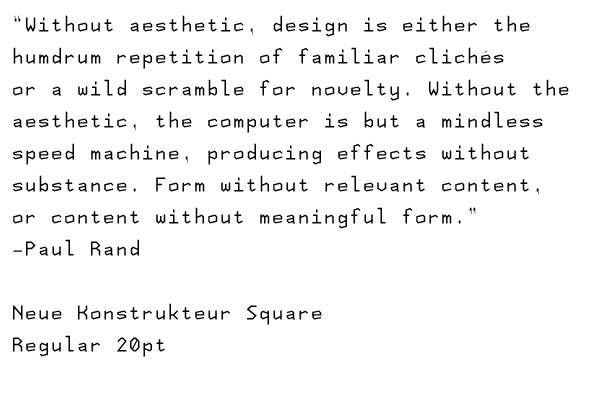 Neue Konstrukteur Square