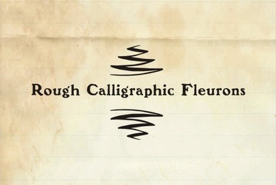 Rough Fleurons Calligraphic