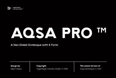 TG Aqsa Grotesque Pro