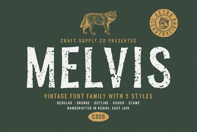 Melvis Font Family and Extras