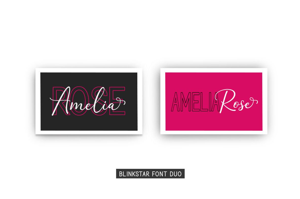 Blinkstar Font Duo