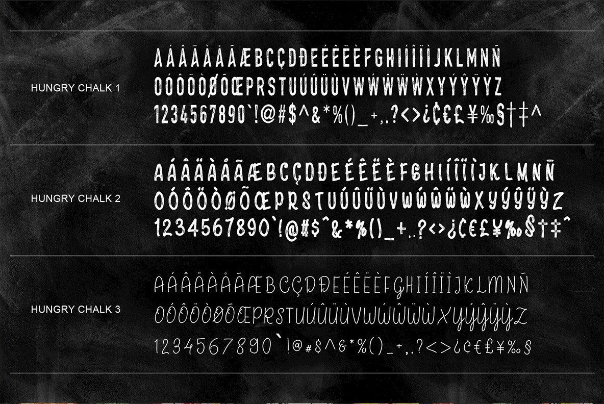 HungryChalk Typeface