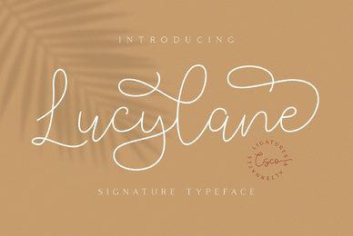 Lucylane   Signature Typeface