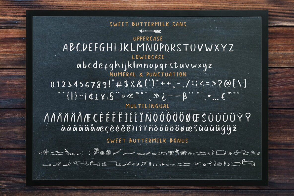 Sweet Buttermilk Font Duo