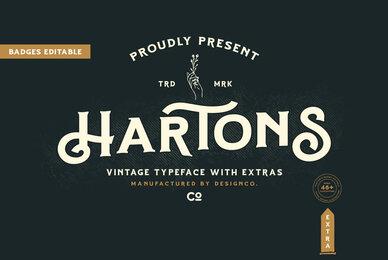 Hartons Branding Typeface