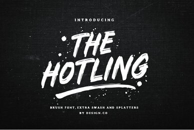 The Hotling Brush Font and Extra