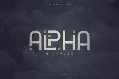 Alpha Display Font