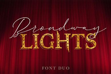 Broadway Lights Font Duo