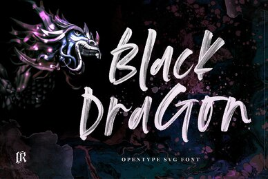 Black Dragon SVG Font