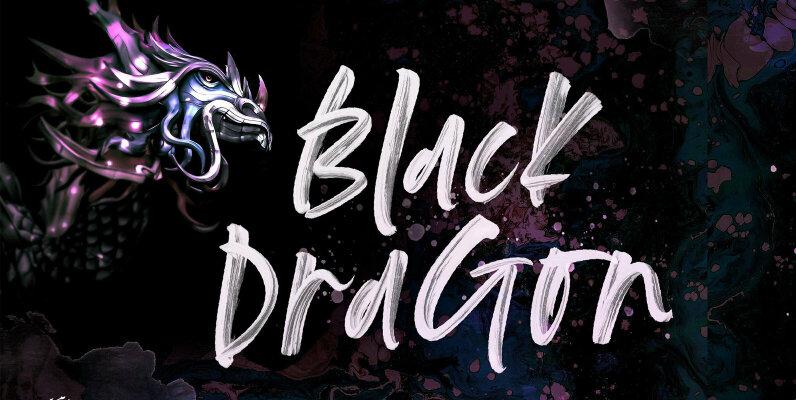 Black Dragon SVG Font