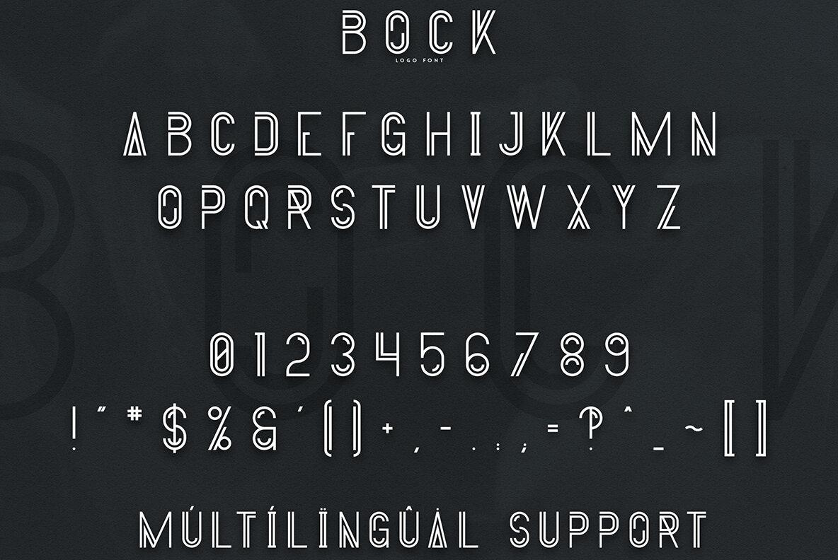 Bock   Logo Font