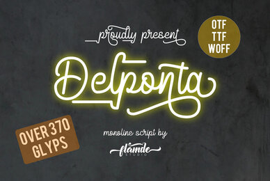 Delponta Monoline Script