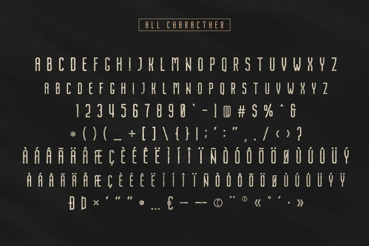 Nordin Vintage Font Family